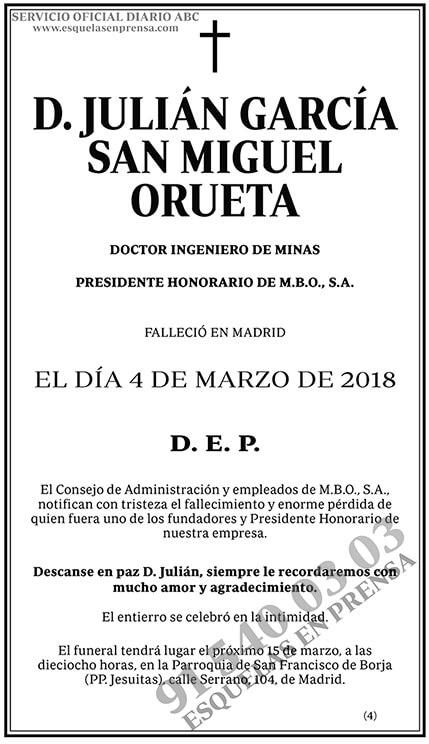 Julián García San Miguel Orueta